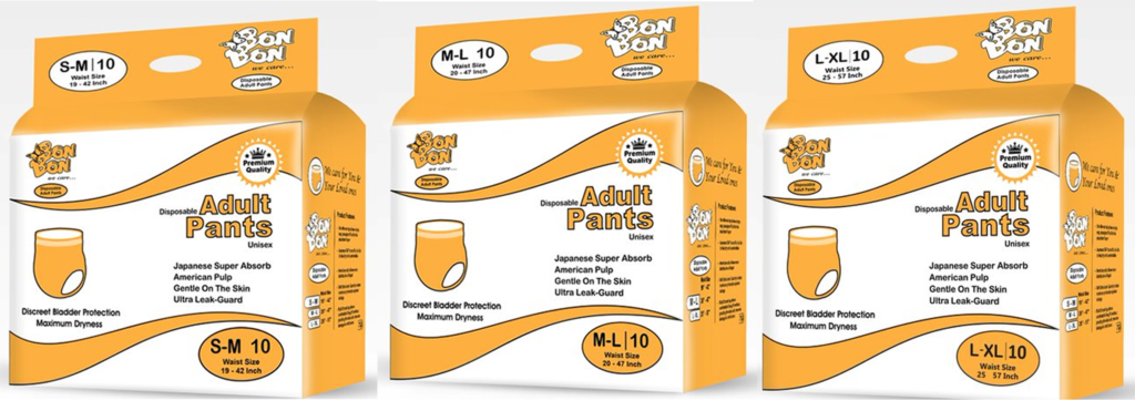 disposable adult unisex diapers